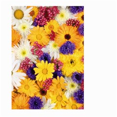 Colorful Flowers Pattern Large Garden Flag (two Sides) by BangZart