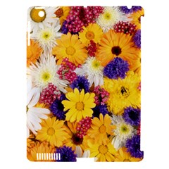 Colorful Flowers Pattern Apple Ipad 3/4 Hardshell Case (compatible With Smart Cover)