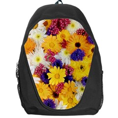 Colorful Flowers Pattern Backpack Bag by BangZart