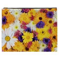 Colorful Flowers Pattern Cosmetic Bag (xxxl)  by BangZart