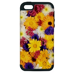 Colorful Flowers Pattern Apple Iphone 5 Hardshell Case (pc+silicone)