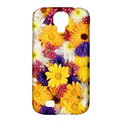 Colorful Flowers Pattern Samsung Galaxy S4 Classic Hardshell Case (pc+silicone) by BangZart