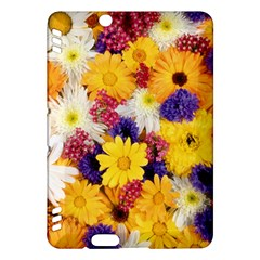 Colorful Flowers Pattern Kindle Fire Hdx Hardshell Case by BangZart