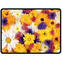 Colorful Flowers Pattern Double Sided Fleece Blanket (large)  by BangZart