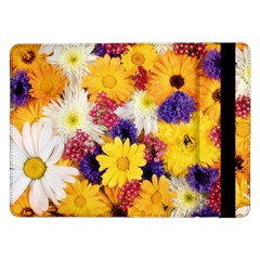 Colorful Flowers Pattern Samsung Galaxy Tab Pro 12 2  Flip Case