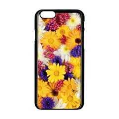 Colorful Flowers Pattern Apple Iphone 6/6s Black Enamel Case by BangZart