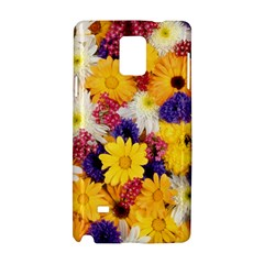 Colorful Flowers Pattern Samsung Galaxy Note 4 Hardshell Case by BangZart
