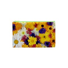 Colorful Flowers Pattern Cosmetic Bag (xs) by BangZart