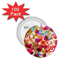 Abstract Colorful Heart 1 75  Buttons (100 Pack)