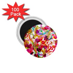 Abstract Colorful Heart 1 75  Magnets (100 Pack)