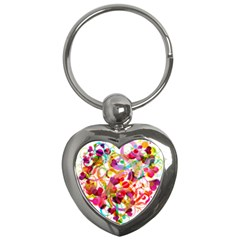 Abstract Colorful Heart Key Chains (heart)  by BangZart
