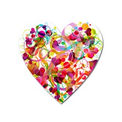 Abstract Colorful Heart Heart Magnet by BangZart