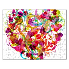 Abstract Colorful Heart Rectangular Jigsaw Puzzl by BangZart