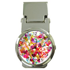Abstract Colorful Heart Money Clip Watches