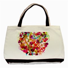 Abstract Colorful Heart Basic Tote Bag by BangZart