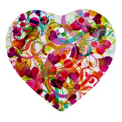 Abstract Colorful Heart Heart Ornament (two Sides) by BangZart