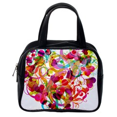 Abstract Colorful Heart Classic Handbags (one Side) by BangZart