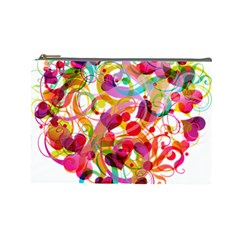 Abstract Colorful Heart Cosmetic Bag (large)  by BangZart