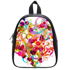Abstract Colorful Heart School Bags (small)  by BangZart