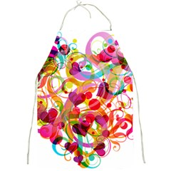 Abstract Colorful Heart Full Print Aprons by BangZart