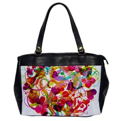 Abstract Colorful Heart Office Handbags by BangZart