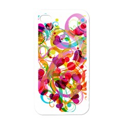 Abstract Colorful Heart Apple Iphone 4 Case (white) by BangZart