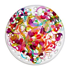 Abstract Colorful Heart Ornament (round Filigree)