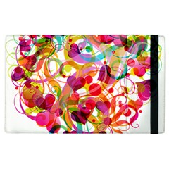 Abstract Colorful Heart Apple Ipad 2 Flip Case by BangZart