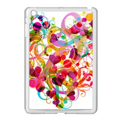 Abstract Colorful Heart Apple Ipad Mini Case (white) by BangZart