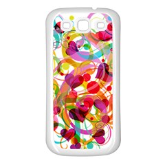 Abstract Colorful Heart Samsung Galaxy S3 Back Case (white)