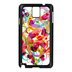 Abstract Colorful Heart Samsung Galaxy Note 3 N9005 Case (black)