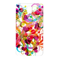 Abstract Colorful Heart Samsung Galaxy Note 3 N9005 Hardshell Back Case by BangZart