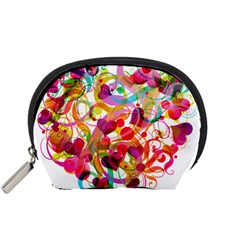 Abstract Colorful Heart Accessory Pouches (small)  by BangZart