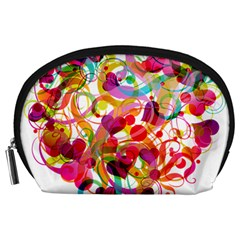 Abstract Colorful Heart Accessory Pouches (large)