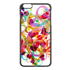 Abstract Colorful Heart Apple Iphone 6 Plus/6s Plus Black Enamel Case by BangZart