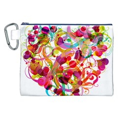 Abstract Colorful Heart Canvas Cosmetic Bag (xxl) by BangZart