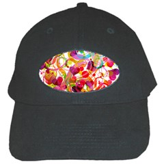 Abstract Colorful Heart Black Cap by BangZart