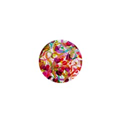 Abstract Colorful Heart 1  Mini Buttons by BangZart