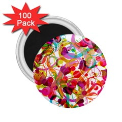 Abstract Colorful Heart 2 25  Magnets (100 Pack)  by BangZart
