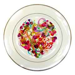 Abstract Colorful Heart Porcelain Plates by BangZart