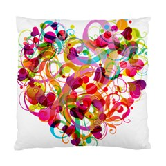 Abstract Colorful Heart Standard Cushion Case (two Sides) by BangZart