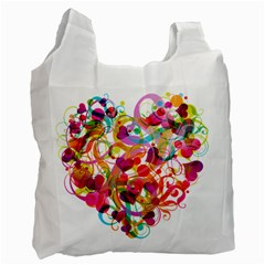 Abstract Colorful Heart Recycle Bag (one Side) by BangZart