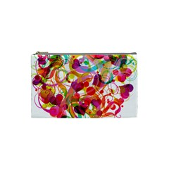 Abstract Colorful Heart Cosmetic Bag (small)
