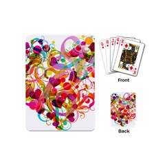 Abstract Colorful Heart Playing Cards (mini)