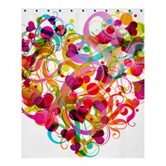 Abstract Colorful Heart Shower Curtain 60  X 72  (medium)