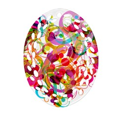 Abstract Colorful Heart Ornament (oval Filigree) by BangZart
