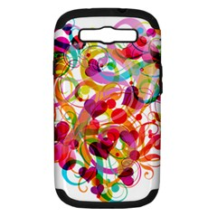 Abstract Colorful Heart Samsung Galaxy S Iii Hardshell Case (pc+silicone)