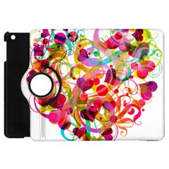 Abstract Colorful Heart Apple Ipad Mini Flip 360 Case