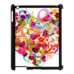 Abstract Colorful Heart Apple Ipad 3/4 Case (black)