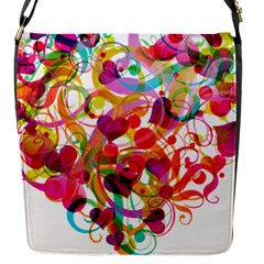 Abstract Colorful Heart Flap Messenger Bag (s) by BangZart